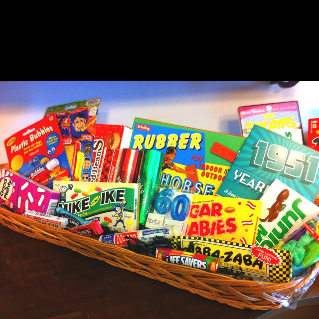 Retro Candies And Games For 60th Birthday Party.