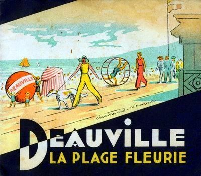 art deco brochure titled deauville la plage fleurie normandy france circa 1934 by. Black Bedroom Furniture Sets. Home Design Ideas