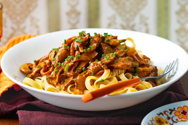 Take comfort food up a notch and serve this hearty stroganoff with fettuccine.