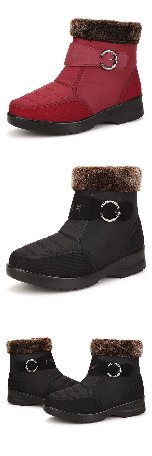 J Boots Eq New Women Winter Down Flat Keep Warm Low Top Plush Cotton Waterproof Snow