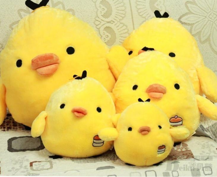 новый прибыл маленький желтый цыпленок подушка кукла ребенок плюшевые рождественский подарок