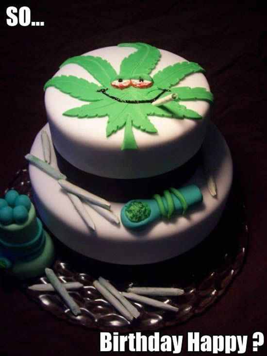 A Collection Of Weed Birthday Cakes Marijuana Memes Weedist