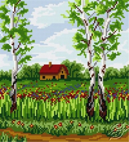 FREE PATTERNS - Cities & Landscapes - Birch In Spring - Gvello Stitch