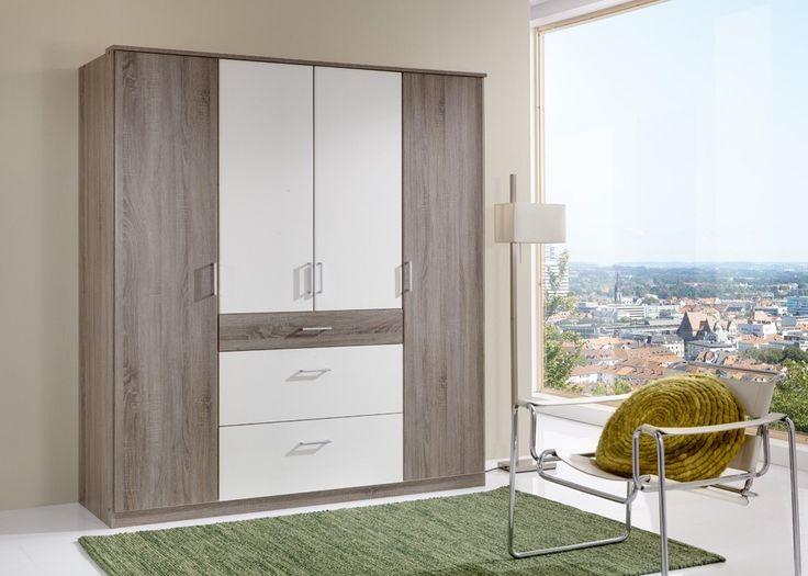 Elegant Kleiderschrank Click Eiche mit Wei Buy now at https