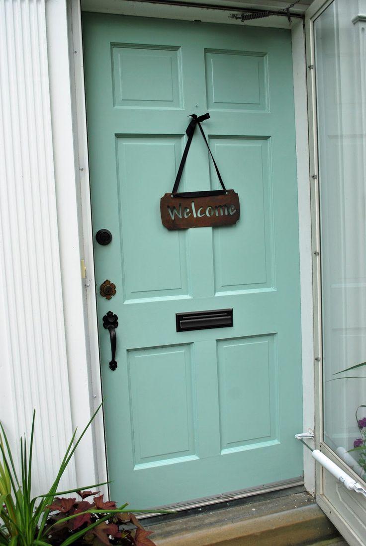 Astounding Front Door Color Benjamin Moore Wythe Blue Fixn Up The Door Handles Collection Dhjemzonderlifede