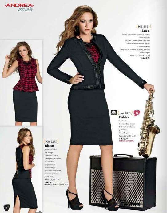 Ropa de otoño de Andrea Jeans. Saco + Blusa + Falda. ¿Te gusta este outfit de otoño?
