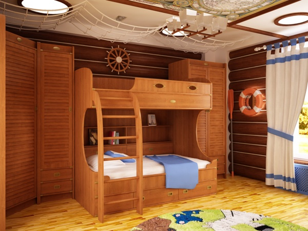 Kid`s playroom by Stanislav Torzhkov, via Behance