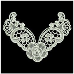 FSL Floral Neckline embroidery design