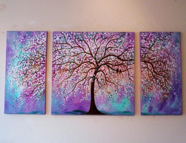 I love multi-canvas paintings
