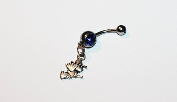 Tiny Witch Belly Button Ring Navel Ring Wiccan by TheGoblinCave