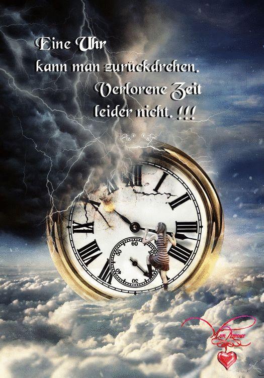 Eine Uhr kann man zurückdrehen. Verlorene Zeit leider