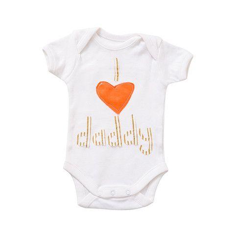 "Crystal & Cloth Slogan Signature Onesie - ""I love mommy"" & ""I love daddy"""