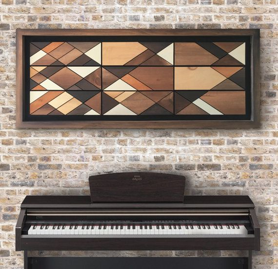 "Wood Wall Art, Large Acrylic painting on Wood, 56"", Original & Handmade Wall Art, Wood Wall Art by SJDesignsNEWYORK"