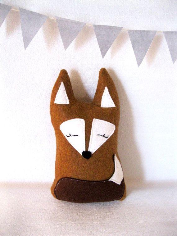 Forest Fox Plush, Eco-friendly Toy, Woodland Children's Room Decor. $35.00, via Etsy.