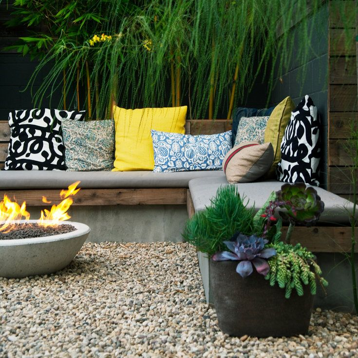 Built-in warmth - Ideas for Fire Pits - Sunset