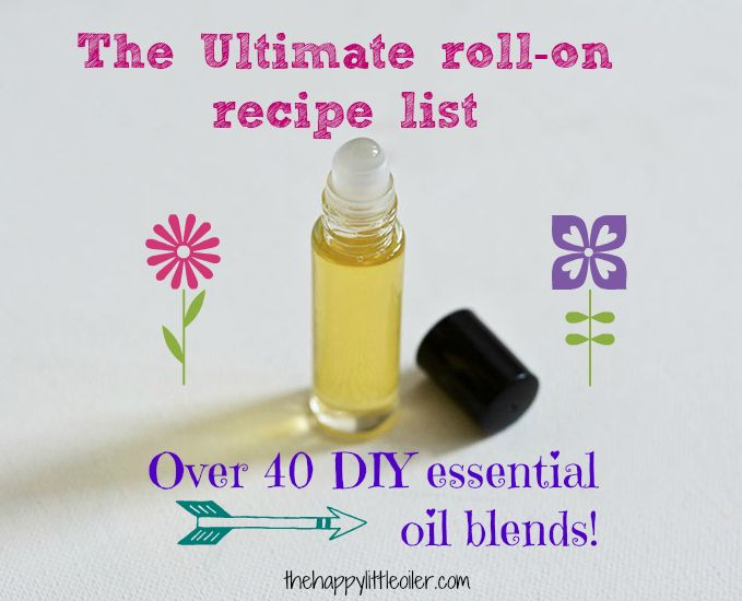 a HUGE list of essential oil roll-on recipes and blends