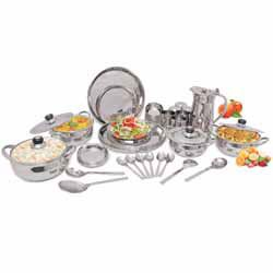 Stainless Steel Dinner Set - 51 Piece, 6-Person