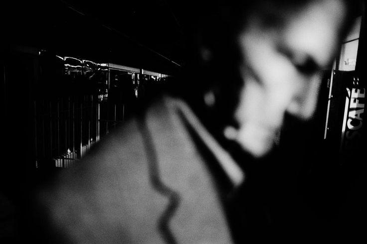 Trent Parke. AUSTRALIA. Sydney. Circular Quay train station. From Dream/Life series. 2002