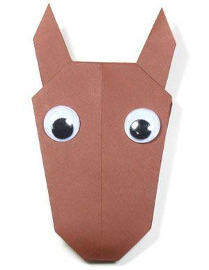 easy origami horse/reindeer for Christmas ;-)