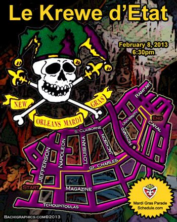 2014 Le Krewe d'Etat New Orleans Mardi Gras Parade Schedule 2014. Another fav