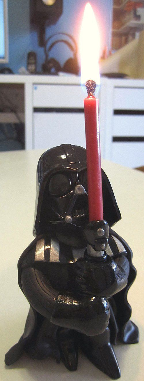 Best Star Wars birthday cake candle ever! #starwars