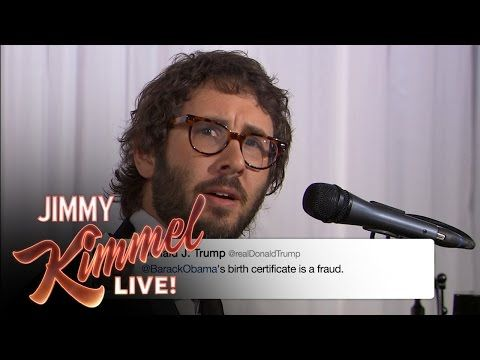 Josh Groban sings Donald Trump's tweets, and it's the best thing ever - slow clap for the Republicans. You all must be so proud.