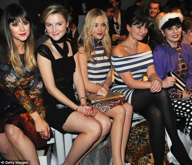 A star-studded front row (from left): Amber Atherton, Laura Whitmore, Gizzi Erskine and Grace Woodward