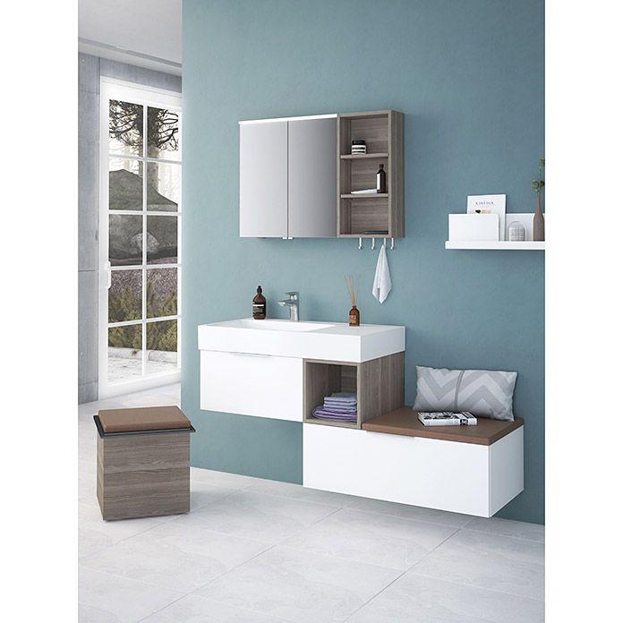 Camargue Cube Waschtisch 49 X 120 Cm 2 Hahnlocher Mineralguss Weiss Einbauwaschbecken Waschtisch Wasche