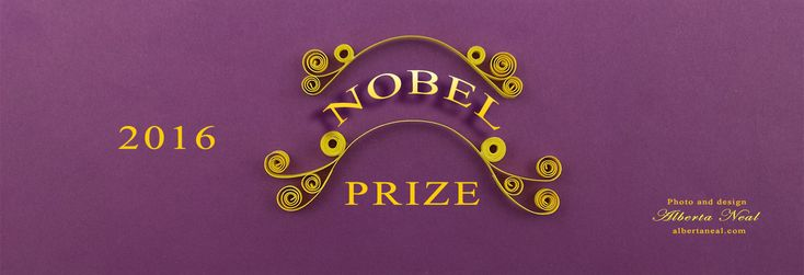A noble benner for Nobel Prizes, by #AlbertaNeal http://albertaneal.com/a-noble-benner-for-nobel-prizes/ #quilling #NobelPrize