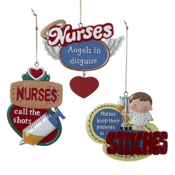 RESIN #NURSE ORNAMENTS