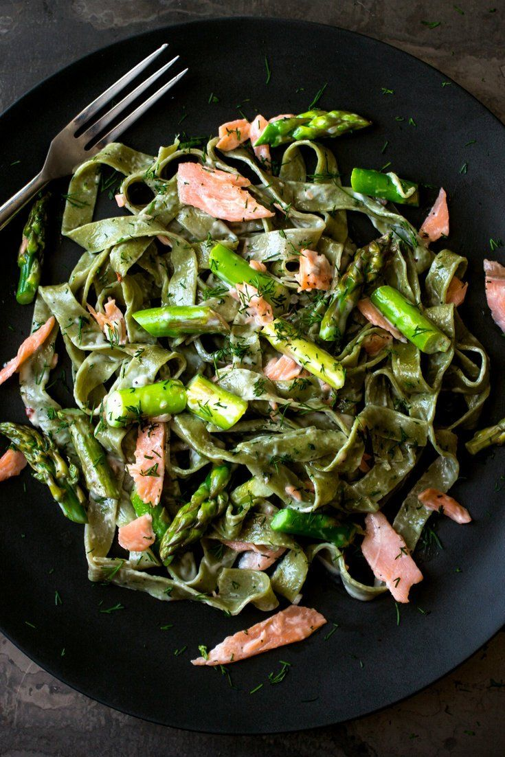 NYT Cooking: Fresh pasta, asparagus and smoked salmon are tossed with shallot cream sauce in this elegant weeknight dinner that can be prepared in well under an hour.
