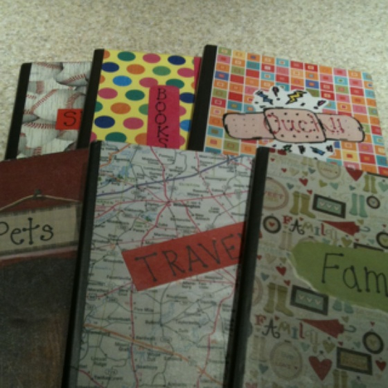 Themed writing journals that all students can contribute to during work on writing.