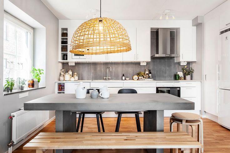 Armonía en clave gris, madera y blanco... ¡combinación perfecta! | Decorar tu casa es facilisimo.com
