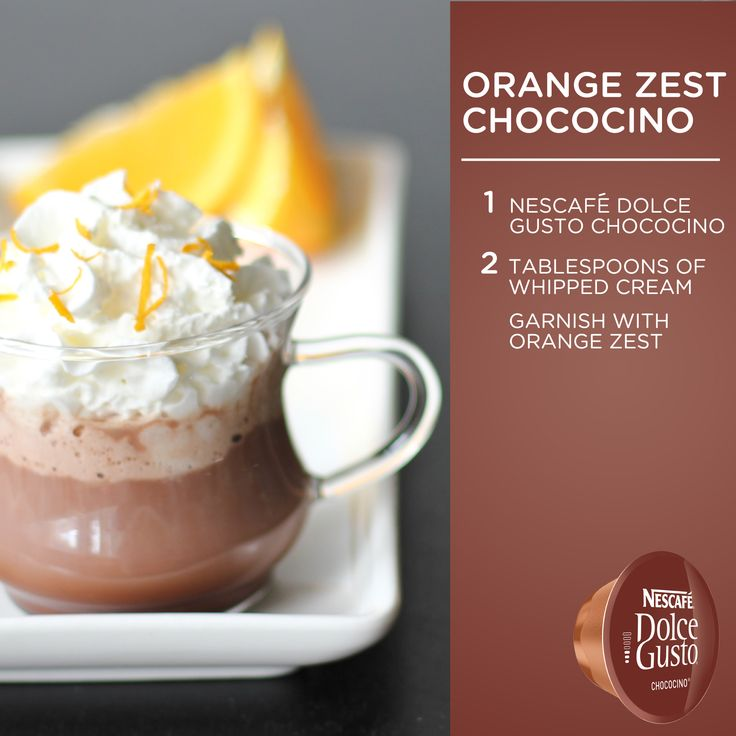No matter how you slice it, this is tasty. #DolceGusto #chocolate #orange #recipe