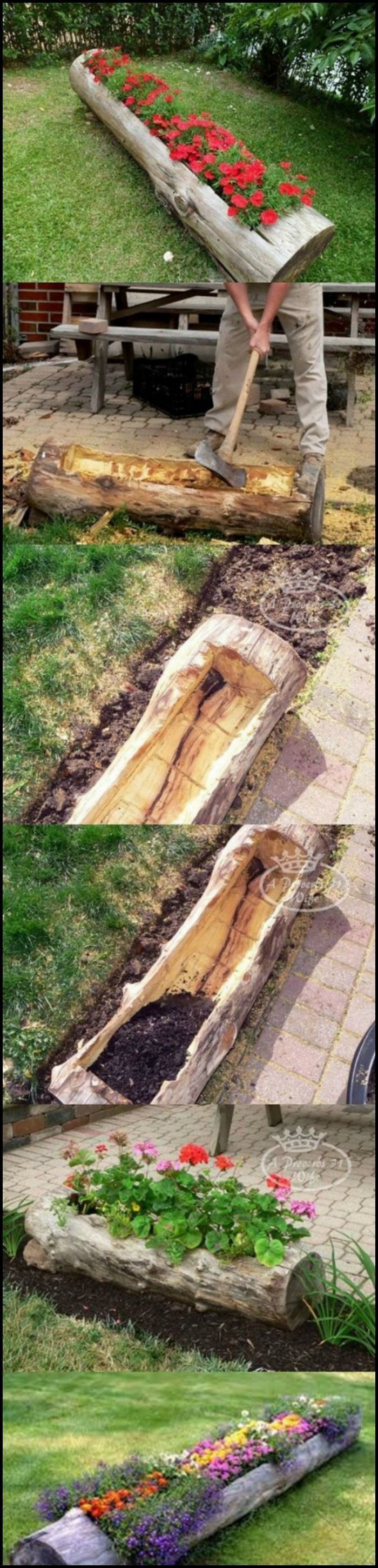 Marvelous 21 Amazing Tree Stump Ideas for the Garden https://ideacoration.co/2018/03/07/21-amazing-tree-stump-ideas-for-the-garden/ As the tree grows, you might have to replace the drainpipe with a bigger one.