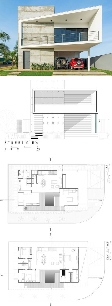 77 best Arquitetura images on Pinterest House blueprints, Villa