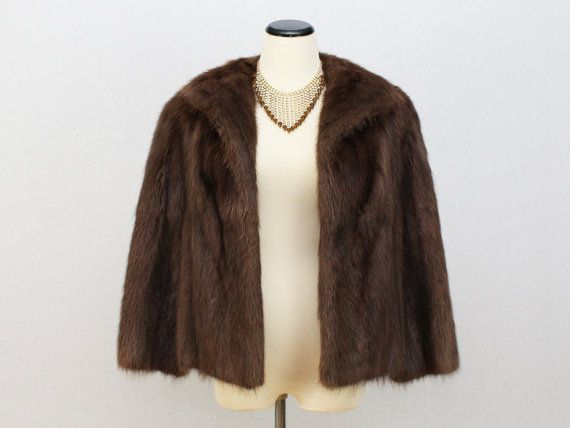 Hey, I found this really awesome Etsy listing at https://www.etsy.com/listing/265334258/brown-fur-coat-mink-jacket-vintage-1960s
