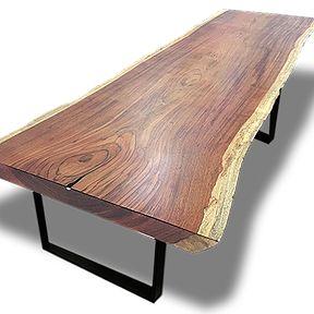 Mesa de Jantar de Tronco de Árvore, Madeira Maciça, Mesa de Jantar de Tora, Mesa…