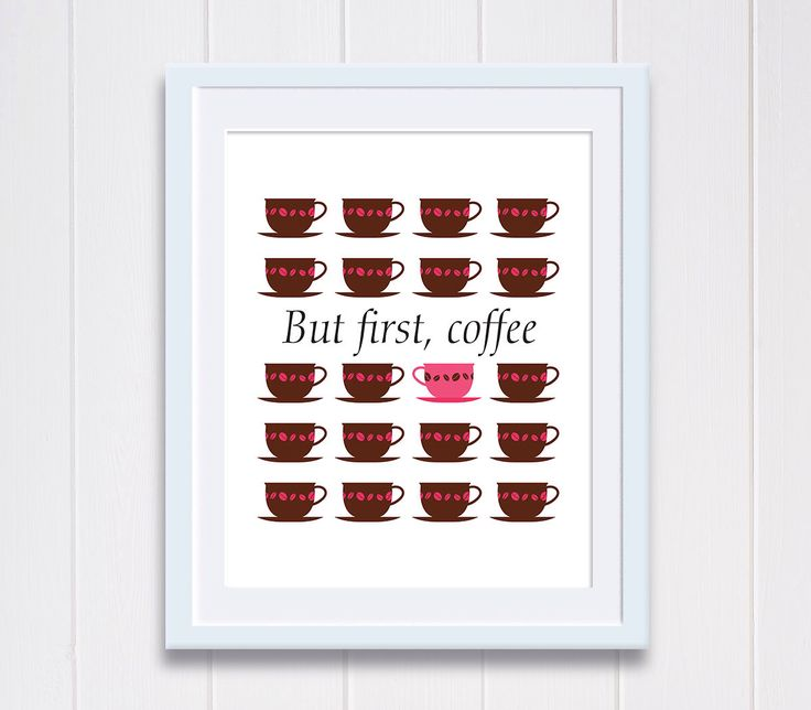 Aaaah, coffee! Just what I need right now. Print by Petit Paris Designs