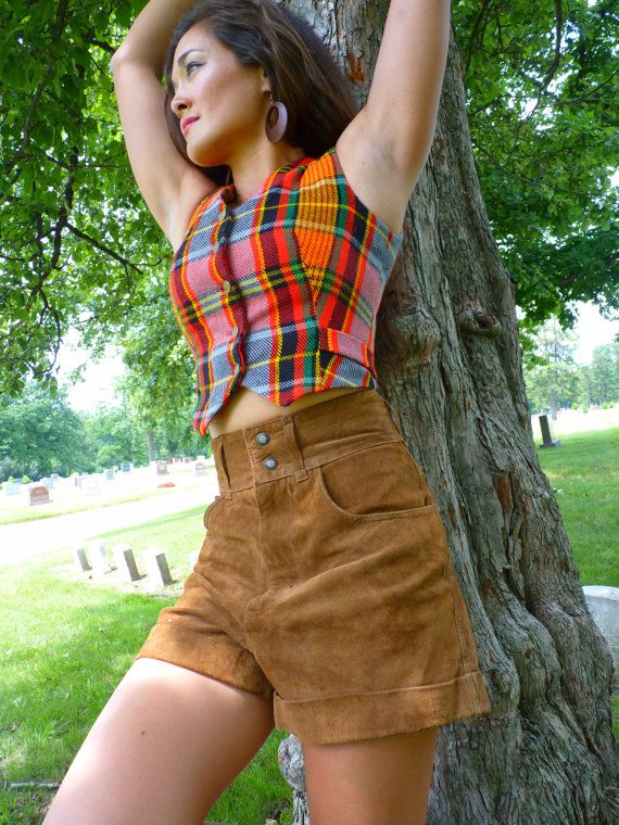 Suede Shorts Cheap High Waisted Shorts Leather by UrbanDecadence, $29.00