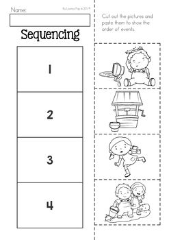 Jack and Jill Nursery Rhyme Worksheets and Activities