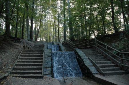 De hoogste waterval van Nederland. Op de Veluwe kan je prachtige wandelingen en fietstochten maken. En als je dan toch in de buurt bent… bij Loenen vind je de grootste waterval van Nederland: de Vrijenbergerspreng.