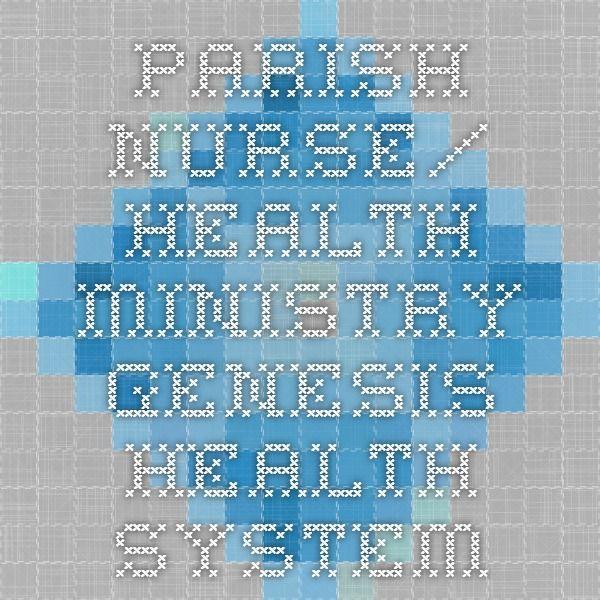 Parish Nurse/ Health Ministry - Genesis Health System