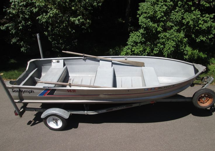 14 ft sea nymph aluminum fishing boat with trailer for