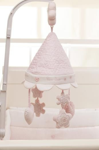 Silver Cross Musical Cot Mobile - Vintage Pink