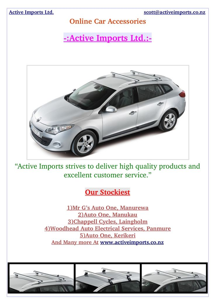 We are the #RoofRack specialist for all #Models of #Vehicles in #NewZealand. The Active Imports has #RoofRacks to fit almost all cars with any roof profile. With the correct roof rack you can rest at ease that your load will be safe and secure on your #Car.