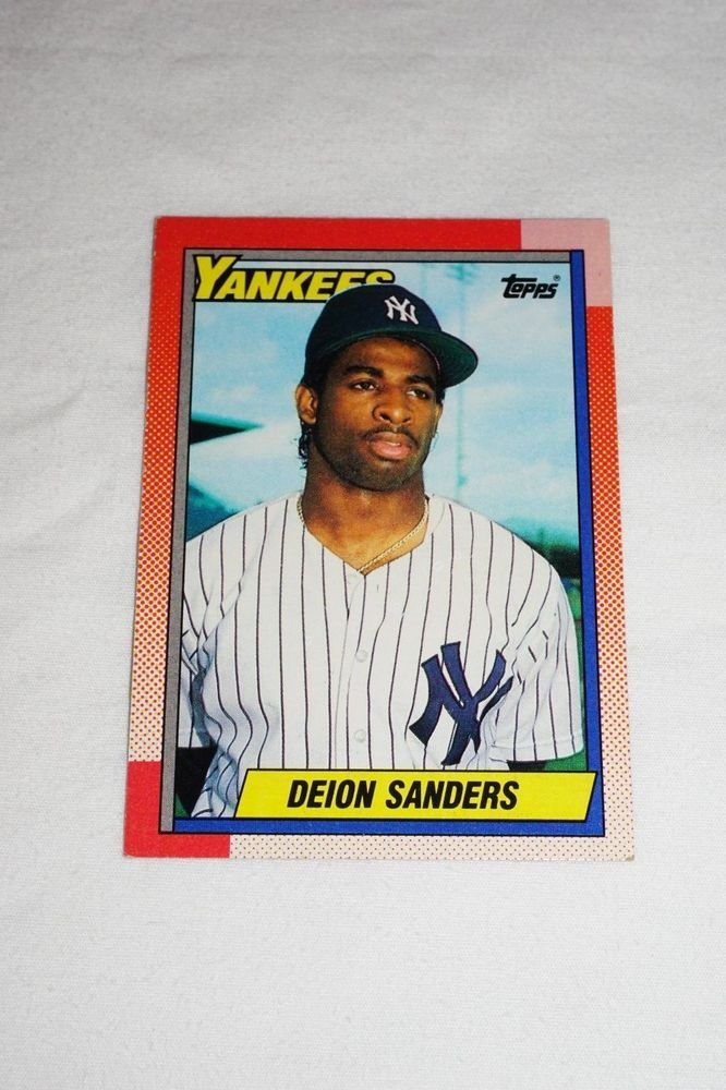 1990 Deion Sanders 61 New York Yankees Trading Cards New York Yankees Colle Newyorkyankees New York Yankees Yankees Cards