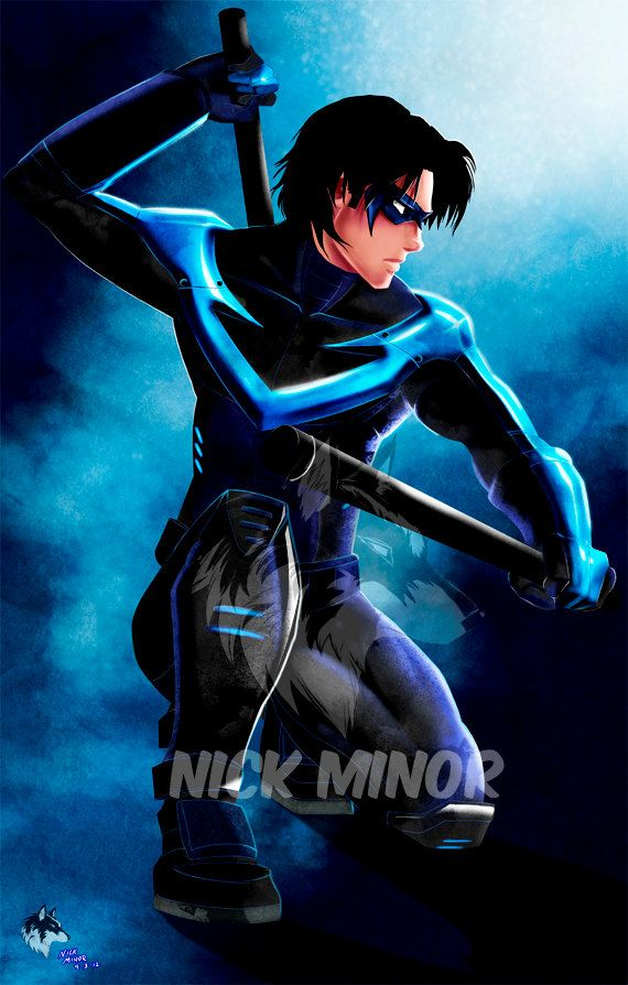 Nightwing by RadiantGrey on Etsy, $9.99  See the artists website here:  http://www.etsy.com/shop/RadiantGrey?ref=seller_info
