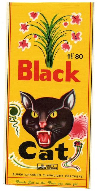 Black Cat Firecracker label