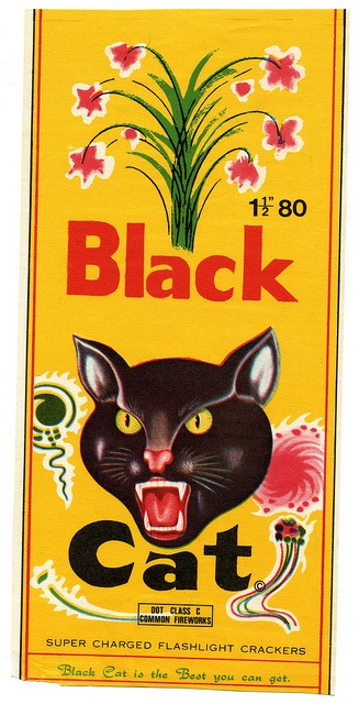 Black Cat Firecracker label